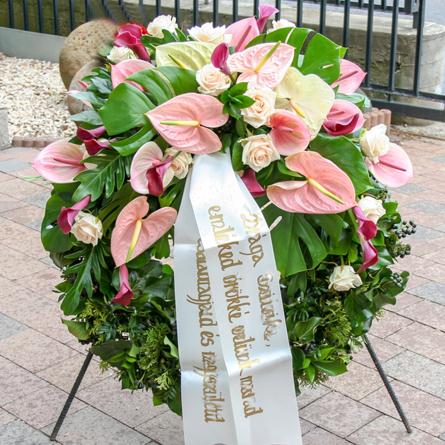 Virágposta - Görögkoszorú különleges anthúrium fejrésszel