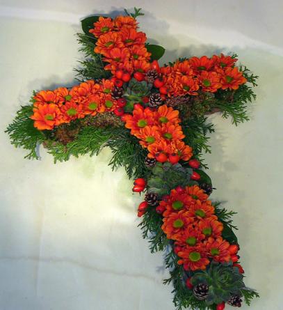 Virágposta - Narancs színű kereszt