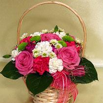 Virágposta - Rózsás kosár
