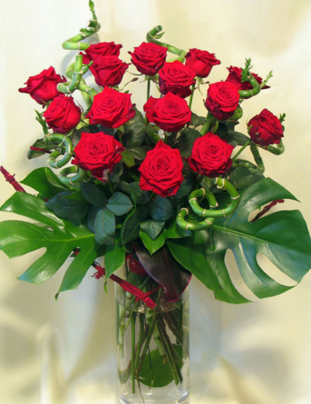 Virágposta - Vörös Rózsacsokor - virágküldés