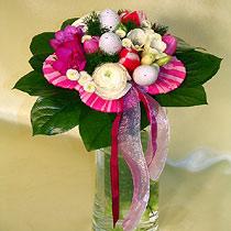 Virágposta - Rózsaszín bokréta