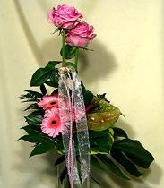 Virágposta - Rózsaszín csokor