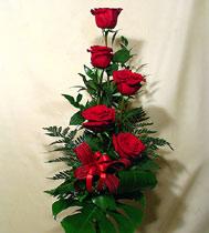 Virágposta - Klasszikus vörös! - Rózsacsokor