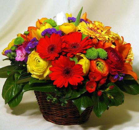 Virágposta - Ragyogó virágkosár