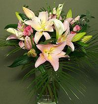Virágposta - Rózsaszín liliomok