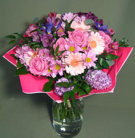 Virágposta - Köszöntő - rózsaszínben