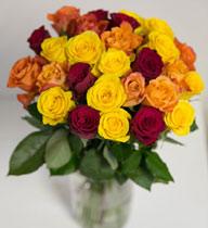 Virágposta - Rózsacsokor - mediterrán hangulatban, 60 cm-es rózsákkal