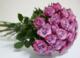 Virágposta - Lila rózsák - rózsacsokor, 60 cm-es rózsákkal