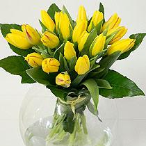 Virágposta - Sárga tulipánok - tavaszi csokor