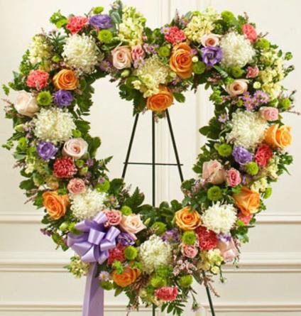 Virágposta - Szív koszorú - színpompás búcsú