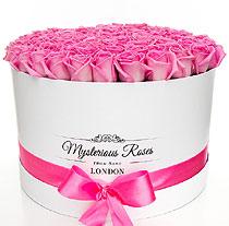 Virágposta - Rózsák óriás Mysterious dobozban, 80 szál