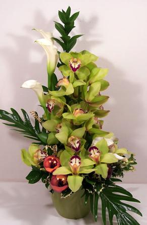 Ferrero - Boldog ünnepet, orchideákkal! - ajándék virágtál