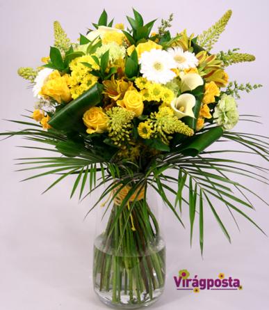 Virágposta - Te vagy a Napfény! - Idénycsokor ragyogó sárga színekben