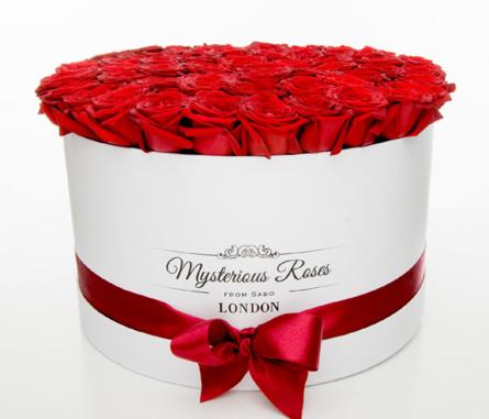 Virágposta - Vörös rózsák óriás rózsadobozban - rózsadoboz