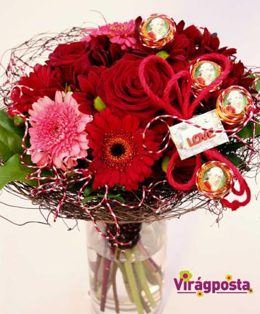 Virágposta - Love Me, Amadeus! - Rózsás csokor Mozart golyókkal