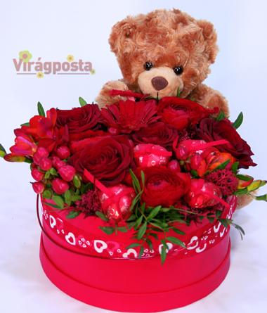 Virágposta - Szeretettel: a Te mackód!
