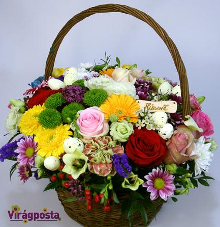 Virágposta - Ragyogó Virágkosár Húsvétra