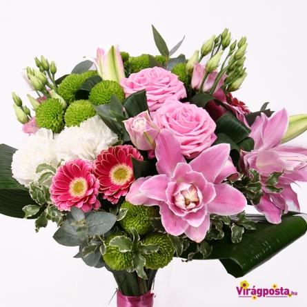 Virágposta - Így szeretlek - liliomos csokor