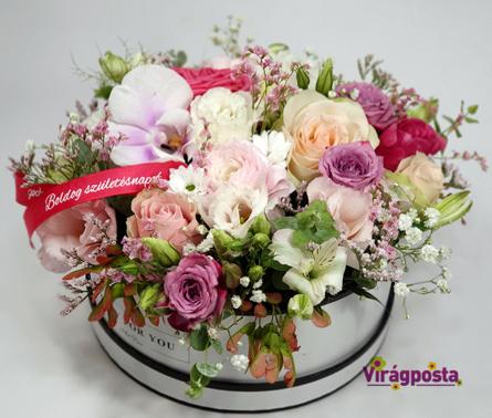 Virágposta - Nyári romantika - Virágbox